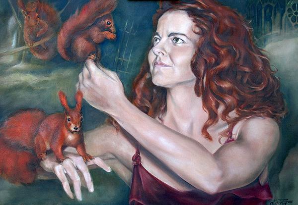 Gemälde Eichhörnchen